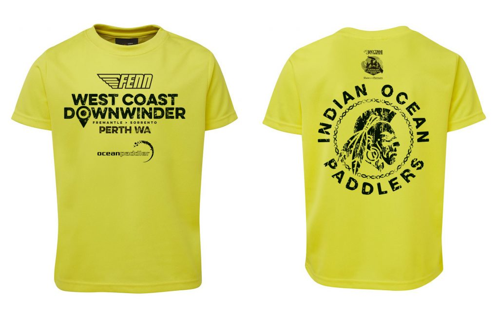 Front and back views of 2016 WCD Paddlers Shirt