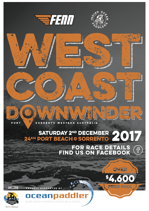 West Coast Downwinder 2017 Race Poster